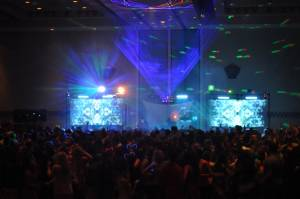 Dance Floor Lighting And Video Projection With Lasers